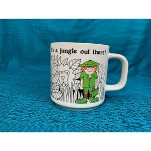 Its a jungle out there! vintage Mug